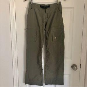 Mountain Hardwear khaki hiking pants, size 2